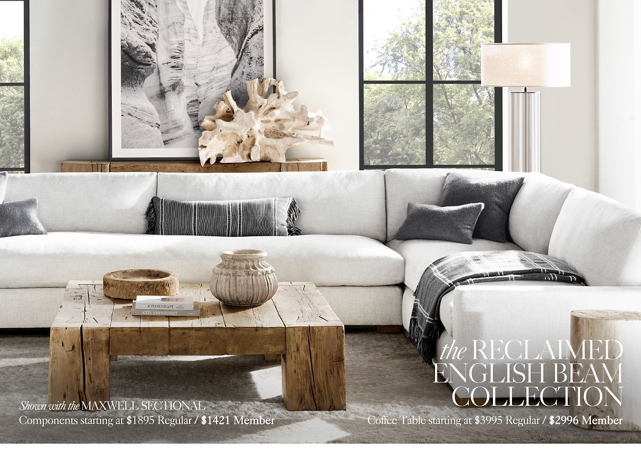 Restoration Hardware The Reclaimed English Beam Collection By Timothy Oulton Milled Living Room Designs Home Apartment Living Room