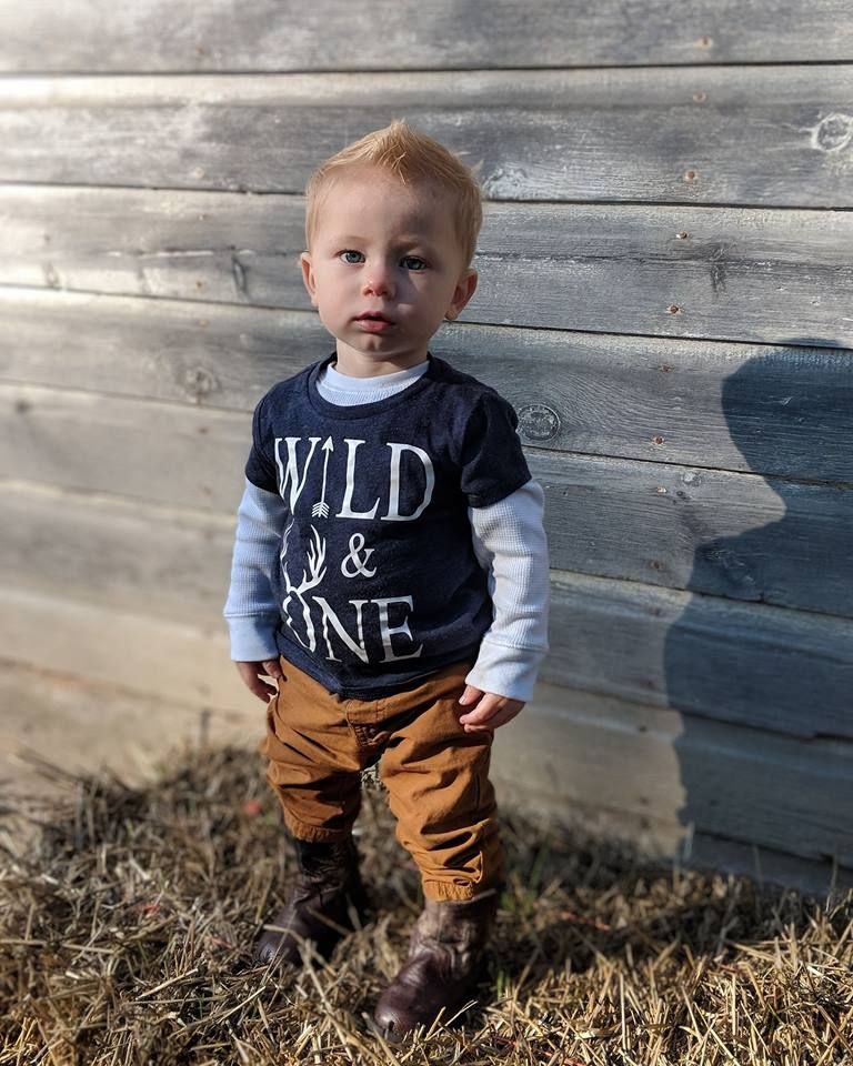 Cute Wild One Birthday Shirt With Deer Antlers For His First
