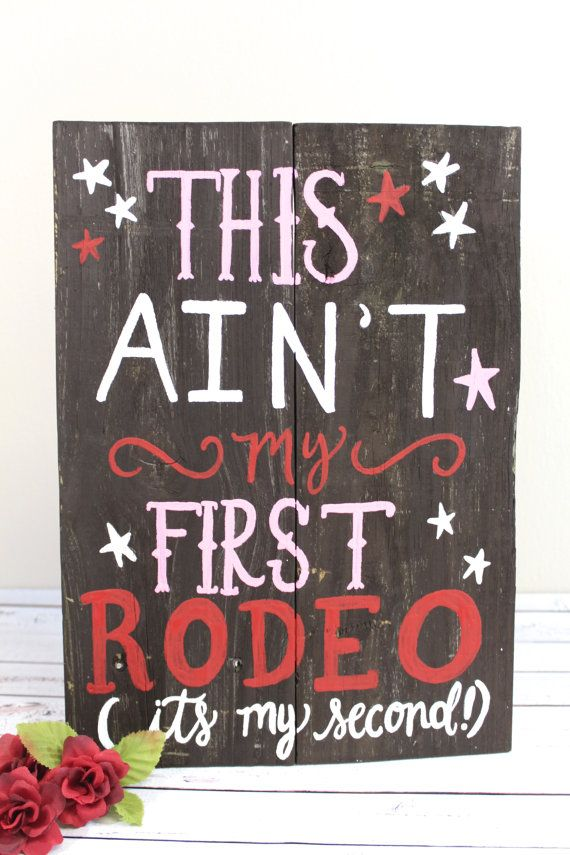 Rustic Wooden Birthday Party Sign Cowgirl Cowboy