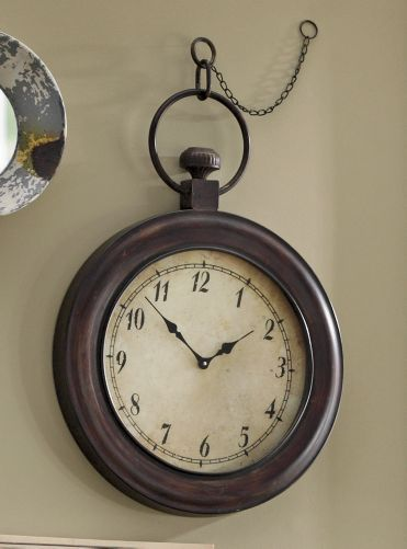 Bathroom Wall Clocks: Faux Vintage Clock...I Like