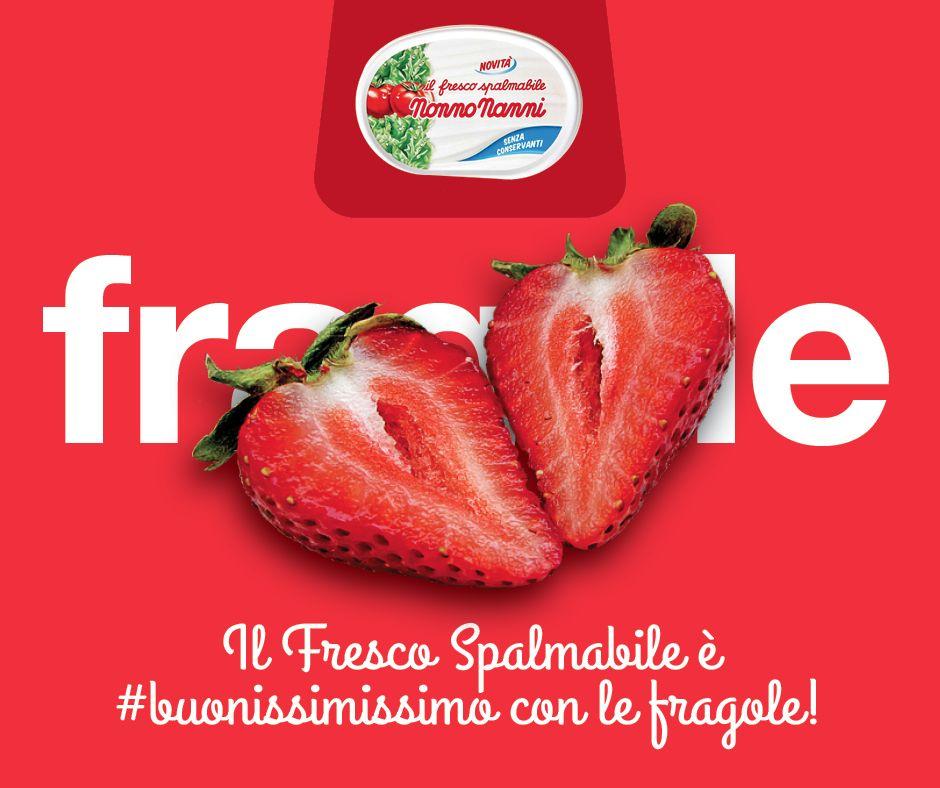 Il Fresco Spalmabile è #buonissimissimo mangiato da solo. Ma lo avete mai provato abbinato alle #Fragole?