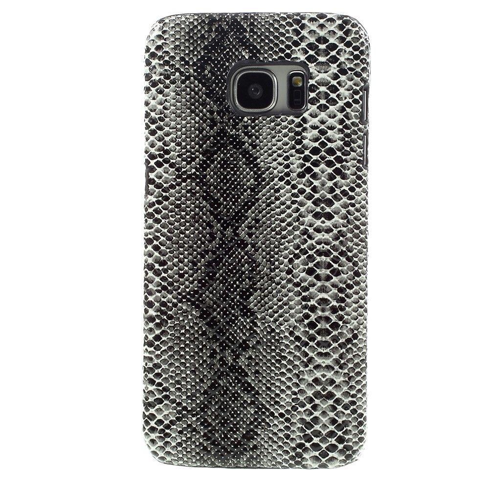Coque Samsung Galaxy S7 Edge Croco Gloss Noir Samsung Galaxy S7