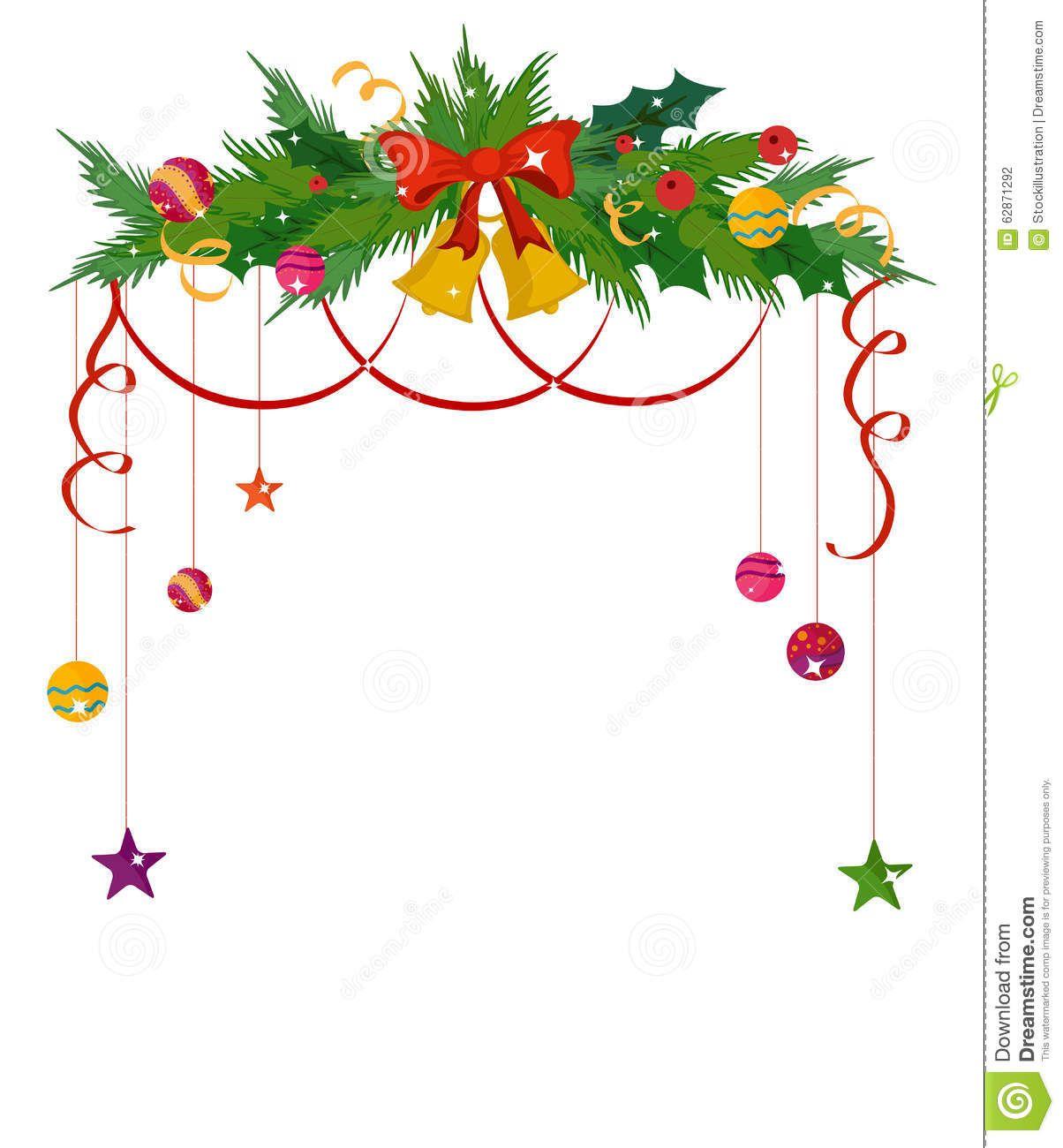 merry christmas border and decoration frame stock vector image rh pinterest com au christmas border vector free christmas border vector designs