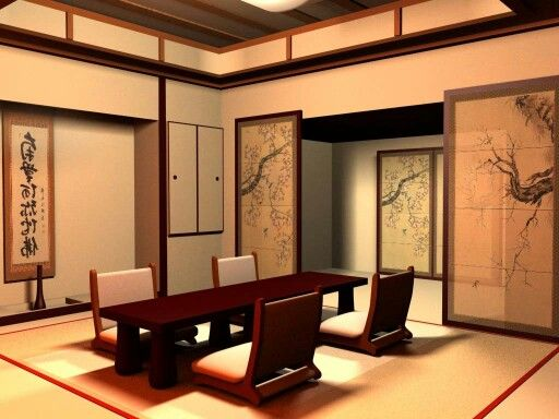 Japanese Dining Room Japanese Inspired Living Pinterest - casa estilo japones