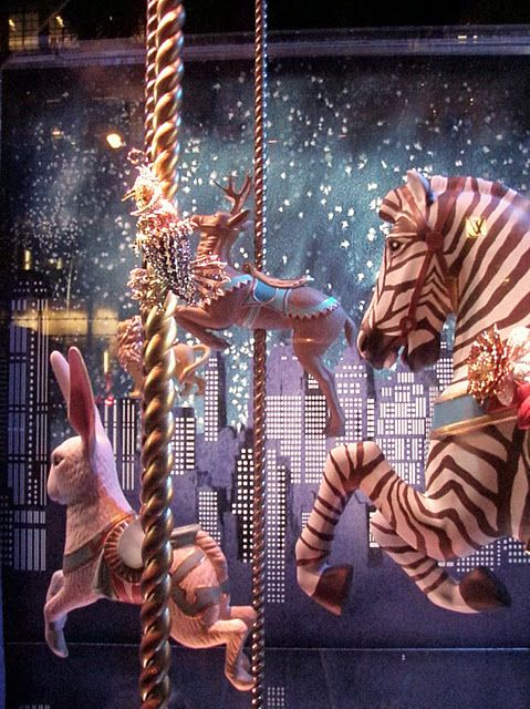 Zebra, rabbit, & deer Carousel- Reminds me of the book Night Circus!