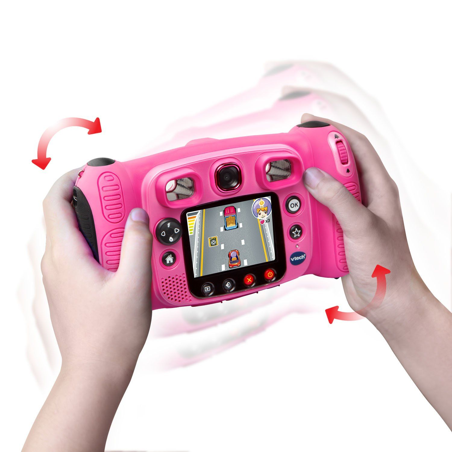 Vtech Kidizoom Duo 5 0 Deluxe Digital Selfie Camera With Mp3 Player And Headphones Pink Online Exclusive You Can Get More Detai Vtech Action Cam Cool Toys