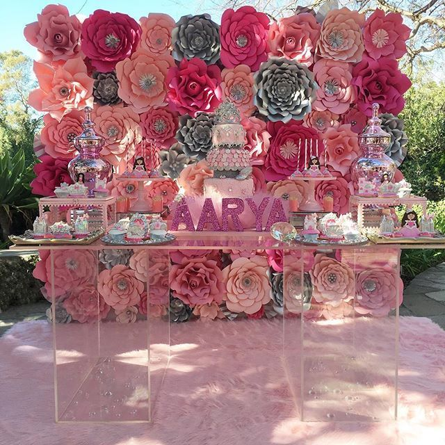 Aarya's 1st Birthday Princess Party Candy And Dessert