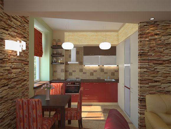 Маленькая гостиная, совмещённая с кухней (с изображениями ...