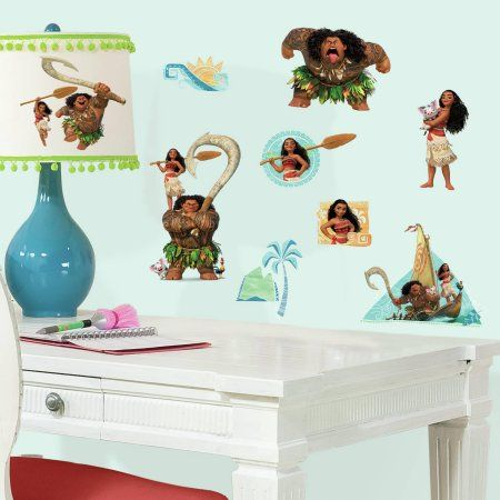 Disney Moana Peel And Stick Wall Decals Brown Products In 2018