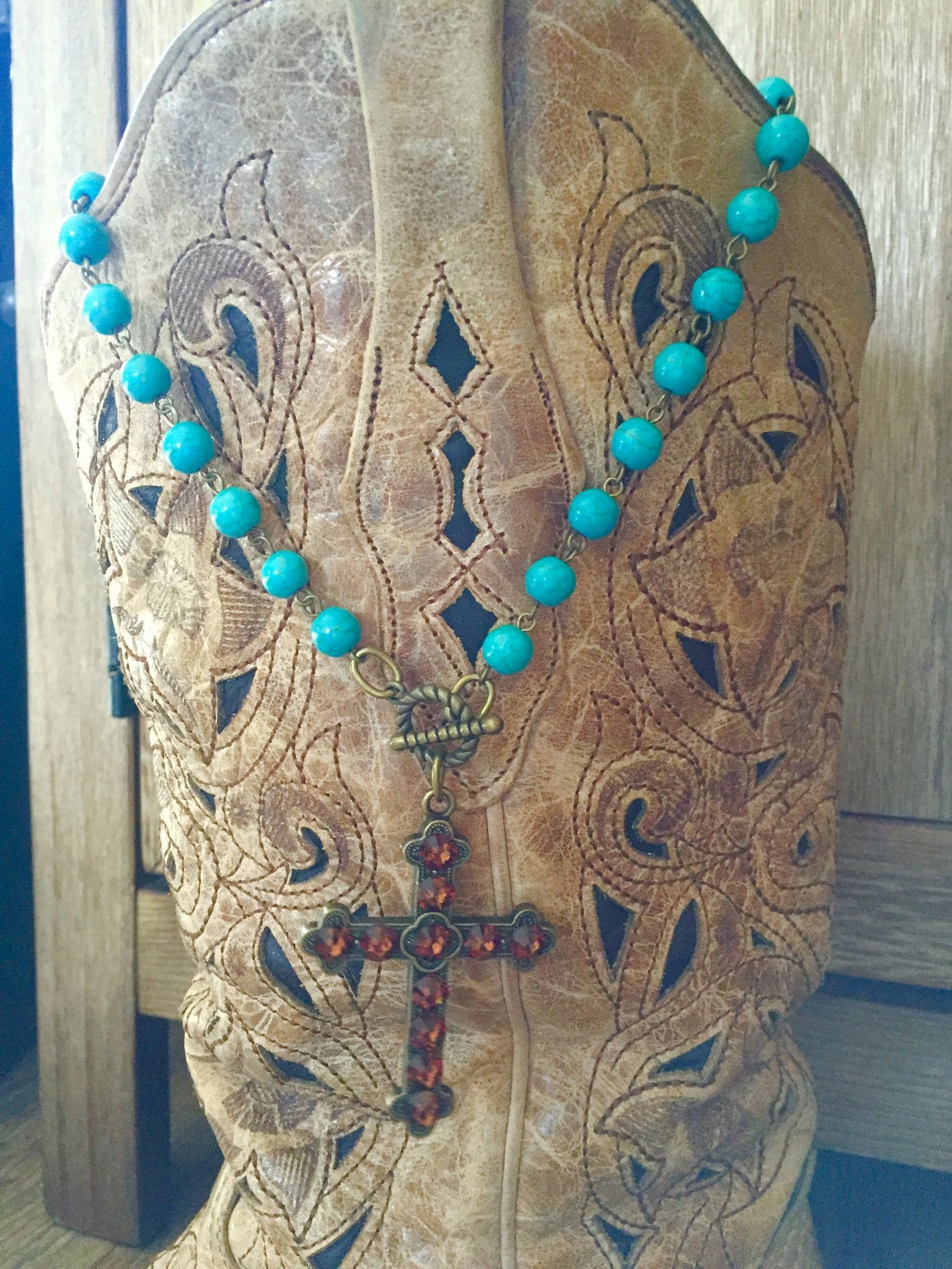 Turquoise & Topaz Necklace ~ Pink Panache