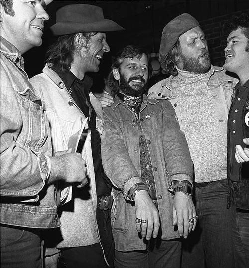 Harry Nilsson Ringo Starr And Micky Dolenz Partying In March 1975 At The Hoyt Axton