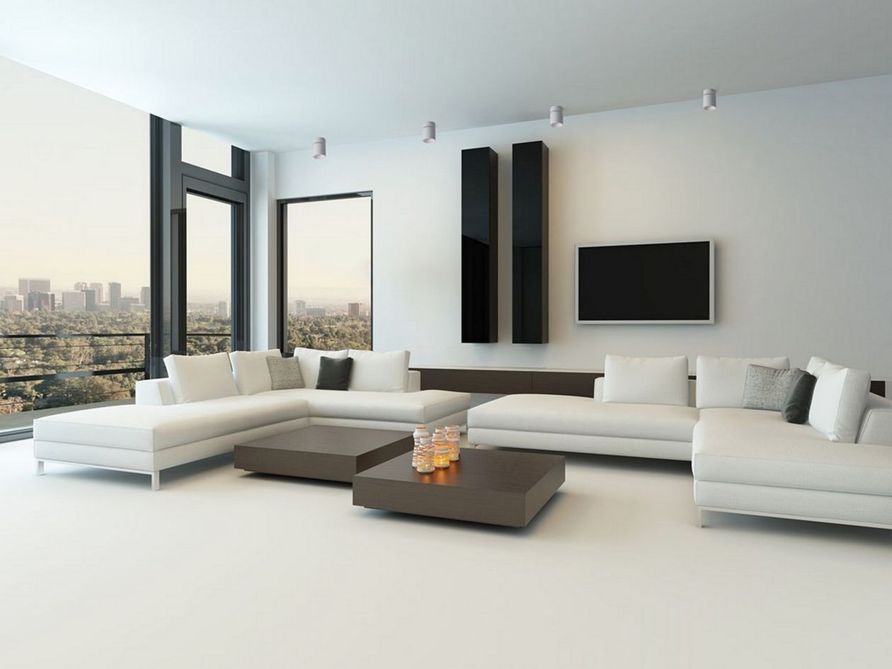 25 Cozy Contemporary Living Room With Modern Furniture Modern White Living Room Living Room Modern Modern Minimalist Living Room