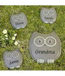 Personalized Owl Stepping Stone  $19.99