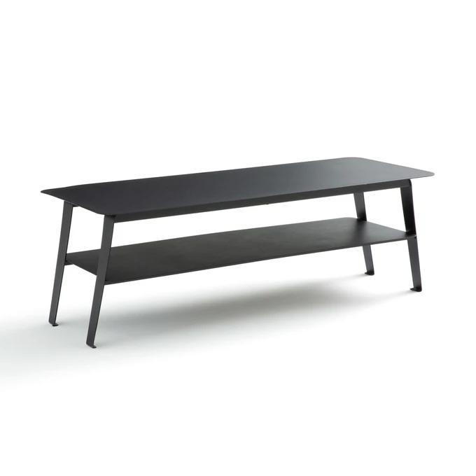 Table Basse Double Plateaux En Metal Hiba En 2020 Avec Images Table Basse Double Plateau Table Basse Table Basse Metal