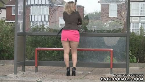 Damn shes sexy pantyhose mini skirt movies would