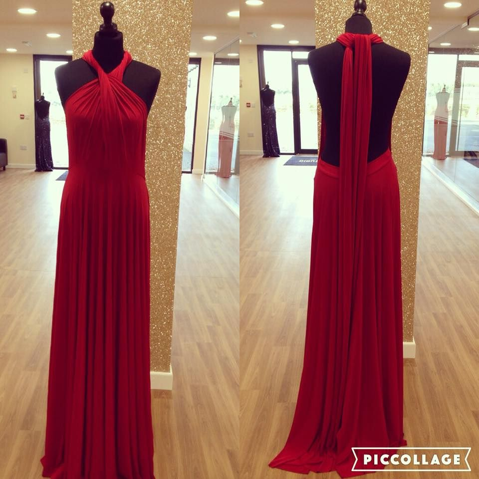 Red multiway bridesmaid dress at The Dress Studio