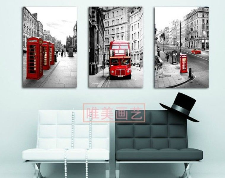 London theme living room wall decor wall paint styles - Average price to paint a bedroom ...