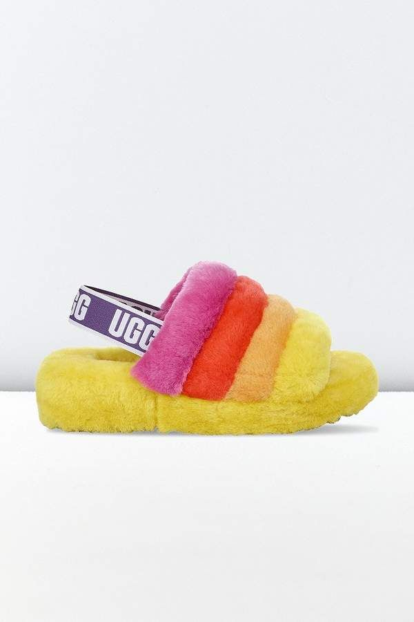 3de61544a6d UGG Fluff Yeah Pride Slide Sandal in 2019 | Products | Uggs, Slide ...