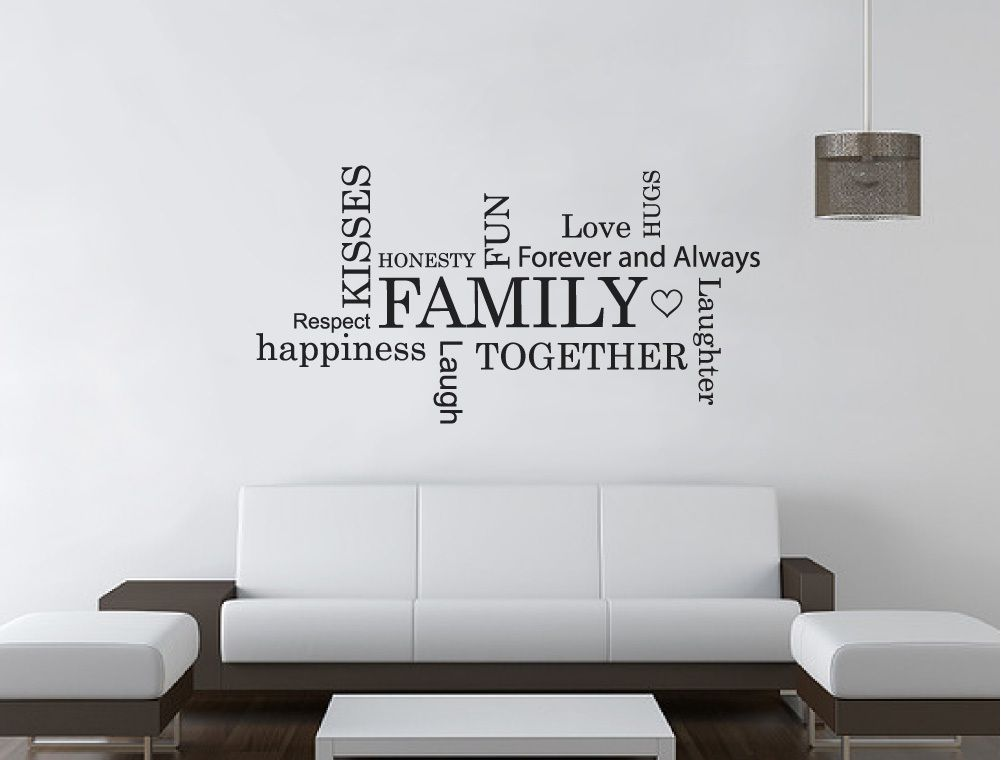 family word art for walls sticker in 2020 wall stickers on wall stickers design id=36253
