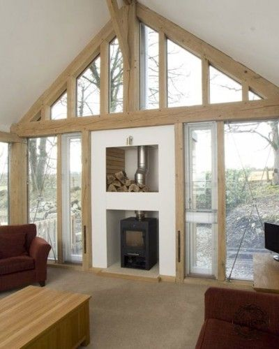 Barn Conversion and Renovations using an Oak Frame Living room