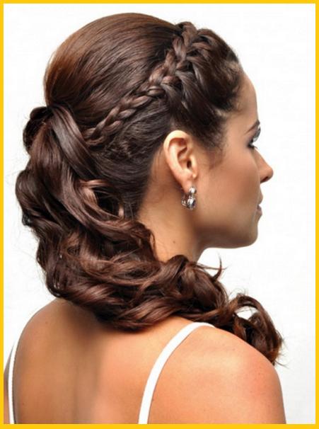 Imagenes De Peinados Sencillos Y Bonitos Trenzas Para Fiestas Peinado Semirecogido Con Trenzas Peinados Faciles Pelo Corto