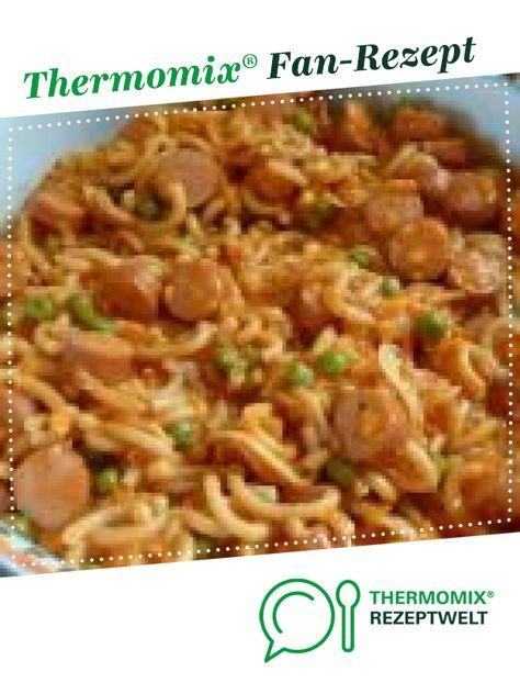 Würstchengulasch mit Gabelspaghetti