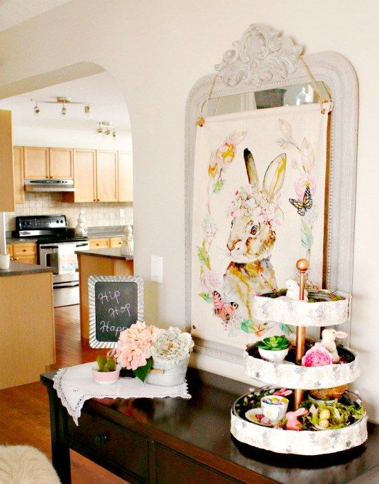 Spring Decor, Spring Home Decor Ideas, Easter Decorations, Easter Decor,  Easter Home