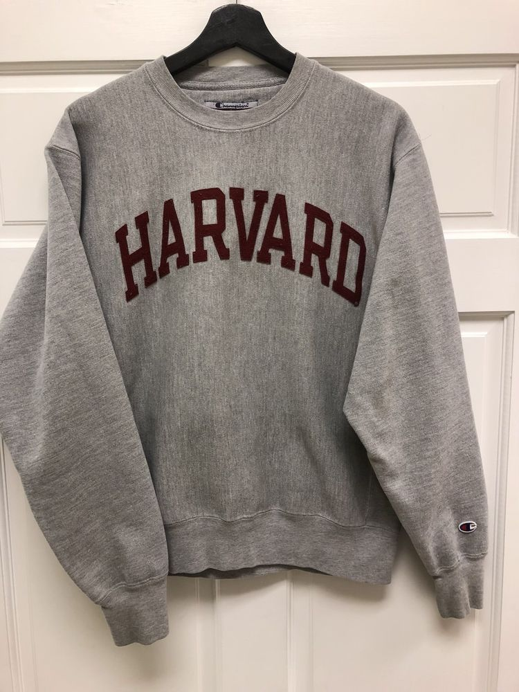 e6d77fa02e2 Champion Reverse Weave Harvard University Crewneck Sweatshirt Grey ...