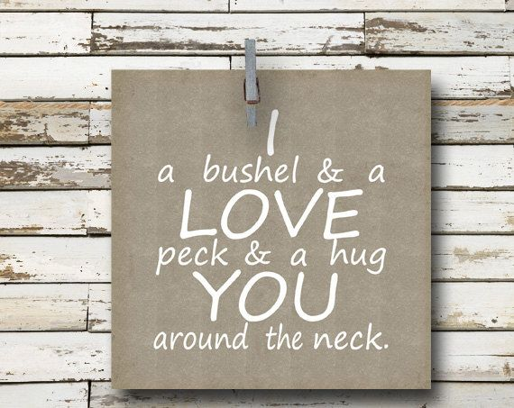 Bushel And A Peck Nursery Rhyme