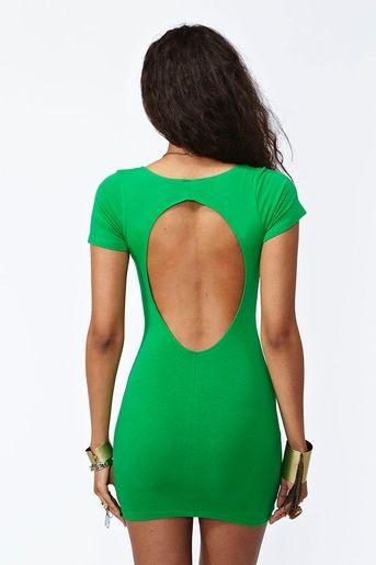 Weekend Cutout Dress - Green  $38.00