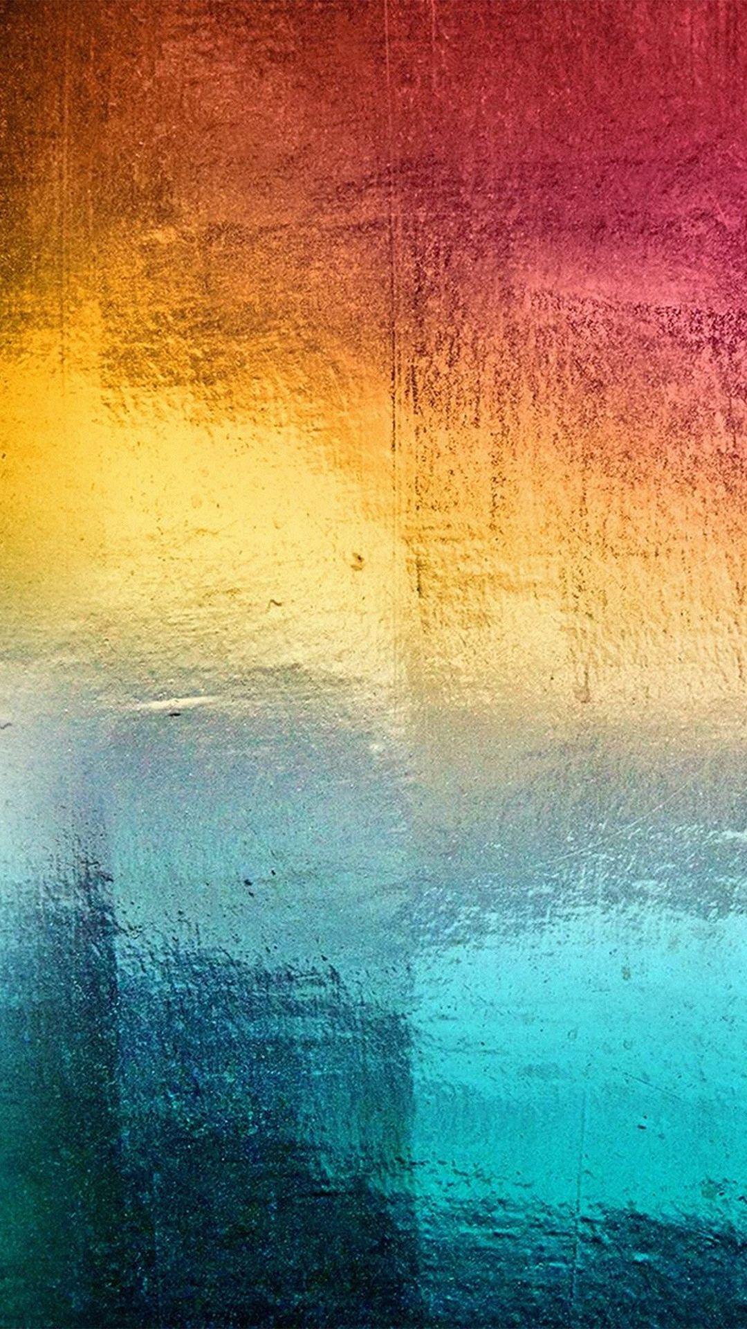 Samsung Rainbow Art Window Ice Winter Pattern iPhone 6