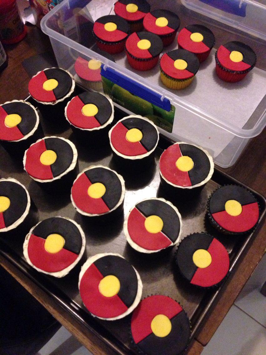 Koori Flag Cupcakes In 2019 Cupcakes Birthday Cake Cake
