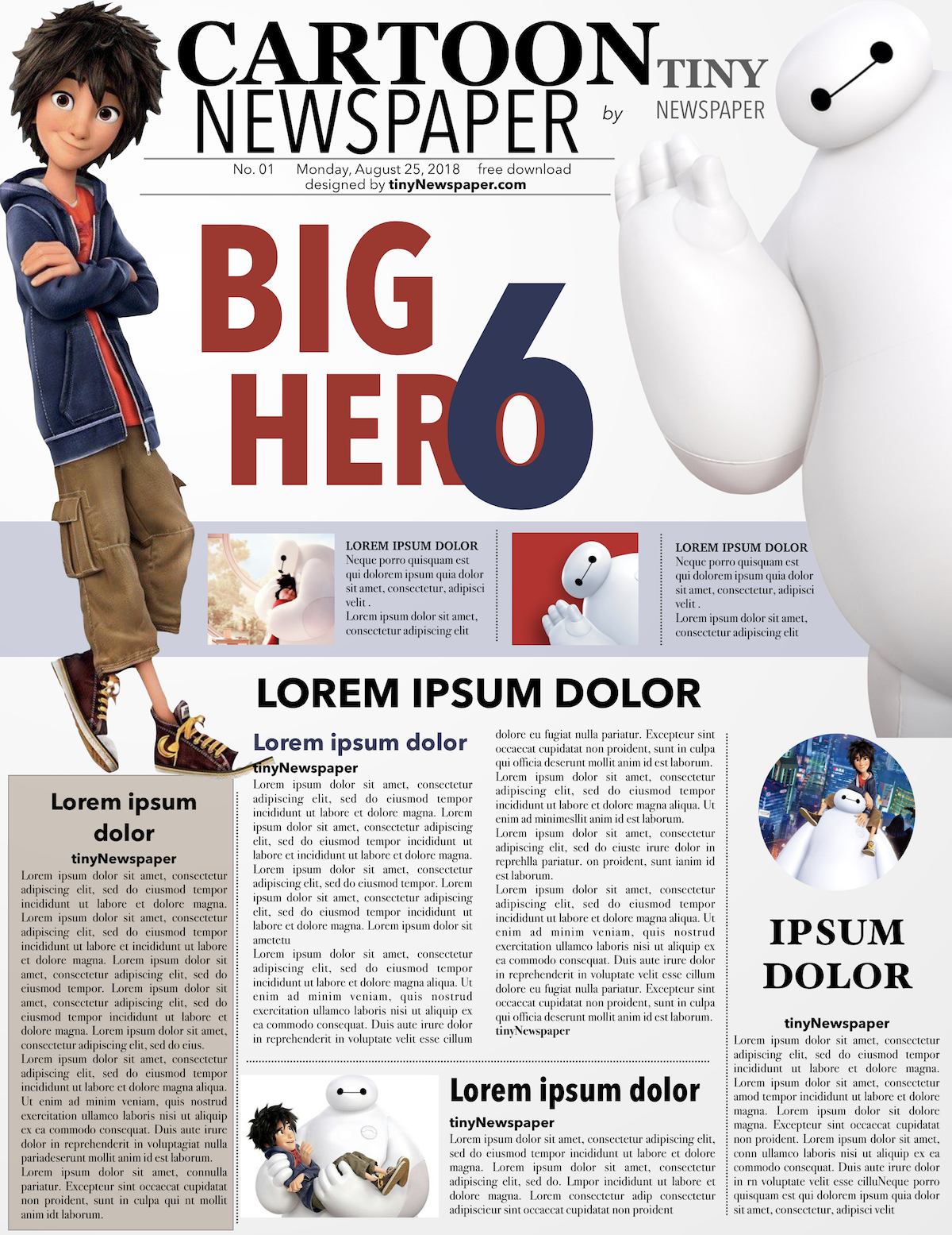 Editable Newspaper Template Outline Front Page Theme How To Make A