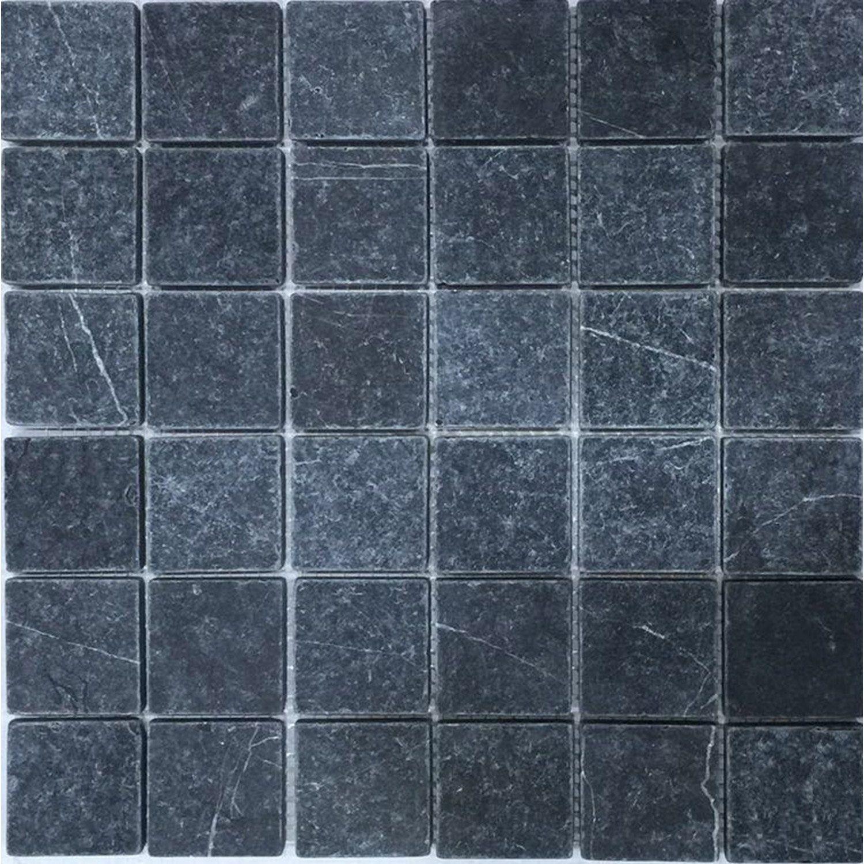 Mosaique Sol Et Mur Mineral Marbre Gris 4 8 X 4 8 Cm Marbre Gris Sol Et Mur Marbre