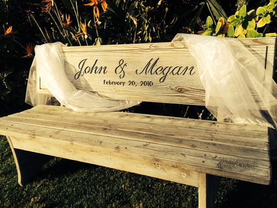 Wedding Bench Custom Engraved Anniversary Gifts By Boutiquebenches