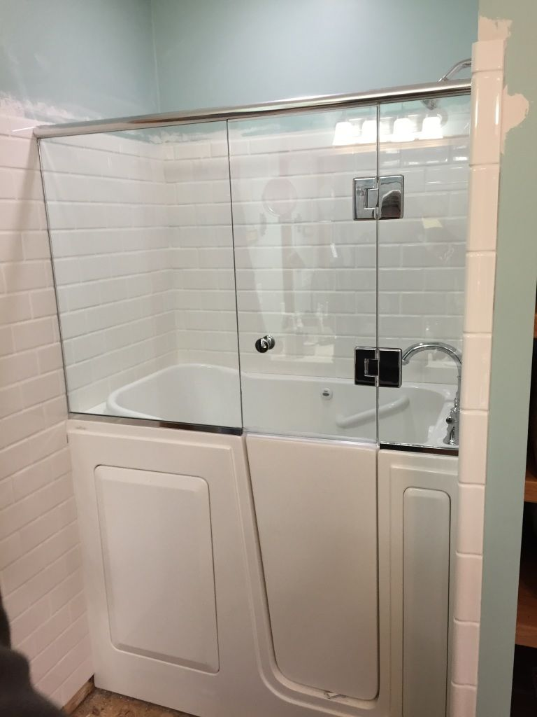 Shower door installed onto a walk in tub | For the Master ...