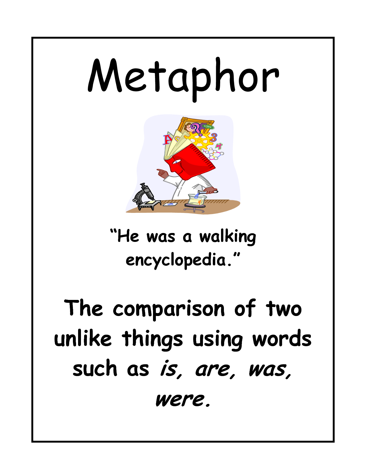 He is a waking dictionary. | Chan Metaphors | Pinterest