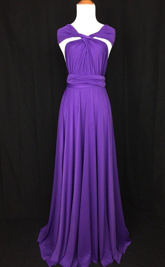 Royal Purple Bridesmaid Dress Wrap dress Convertible Infinity Dress ...