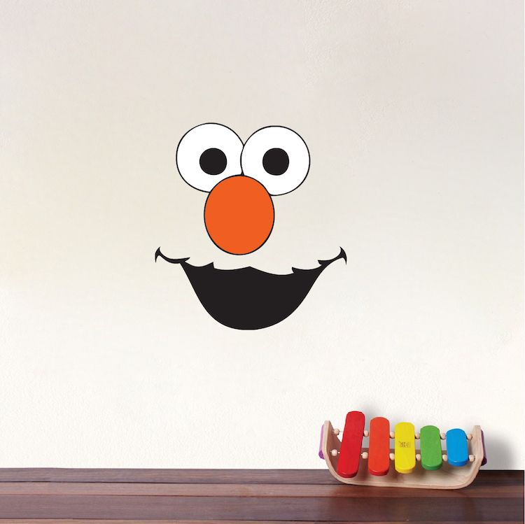Elmo Face Kids Wall Decals   Elmo Bedrom Sticker Mural   Elmo Monster Sesame  Street Wall