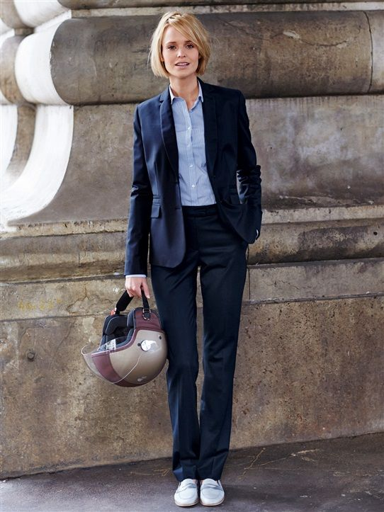PANTALON TAILLEUR FEMME LAINE FROIDE MARINE   My Style   Pinterest ... 02c0a5b8bbeb