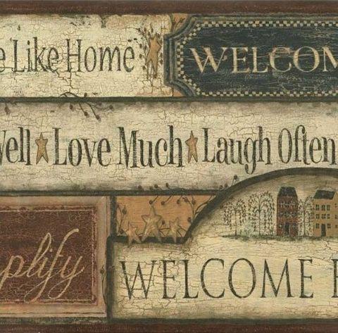 Sign Country Border Folk Heart II Wallpaper