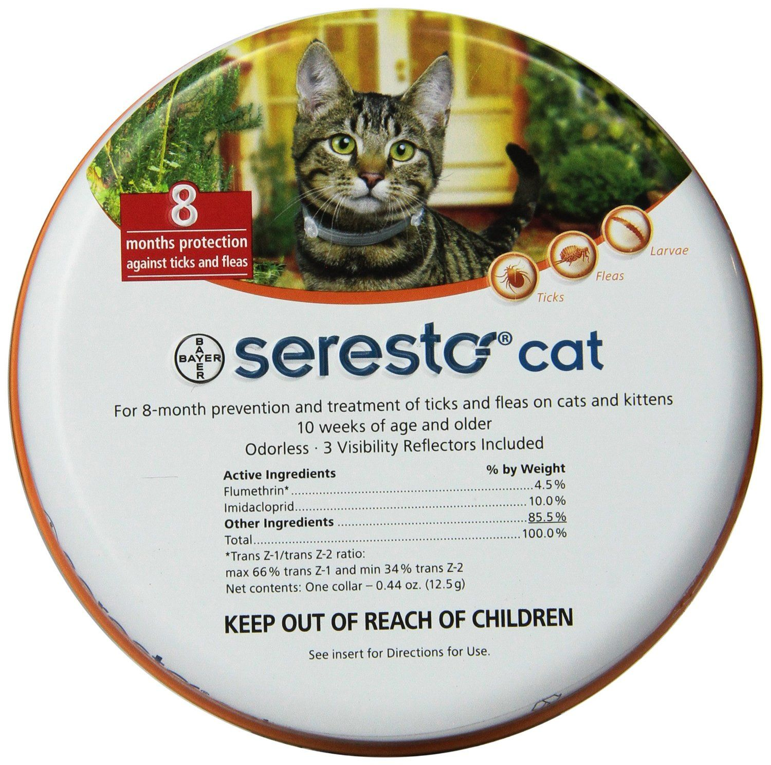 Sale: $43.98 + $4.95 shipping You Save: $35.01 (44%)         8 month Flea & Tick protection     Veterinarian Recommended     Non-greasy, odorless     Available in three sizes, large dog, small dog and cat  VISIT:  http://flealicetickcontrol.blogspot.com/