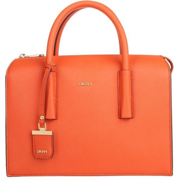 DKNY Handle Bags, Bryant Park Tote Orange Handbag (4,860 MXN) ❤ liked on
