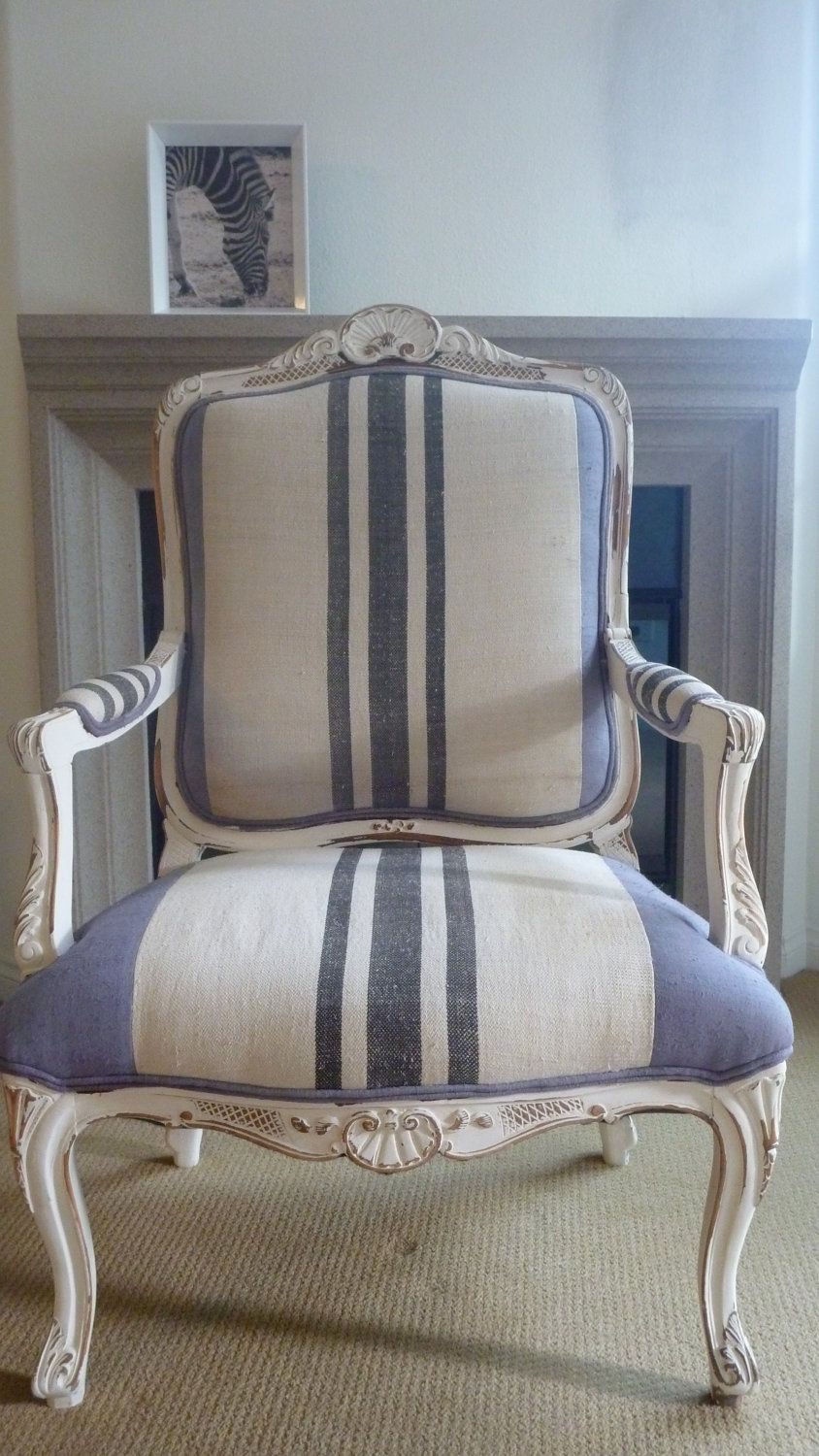 Stripe French Chair With Flair. $800.00, Via Etsy.