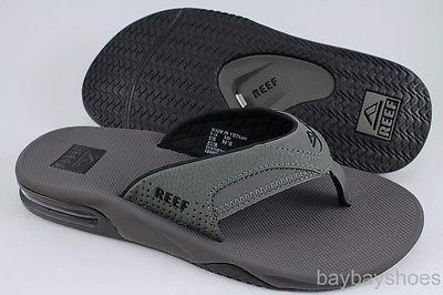 93e94bf28ffe REEF FANNING GRAY BLACK FLIP FLOPS THONG SANDALS BEACH MICK GREY US MEN  SIZES