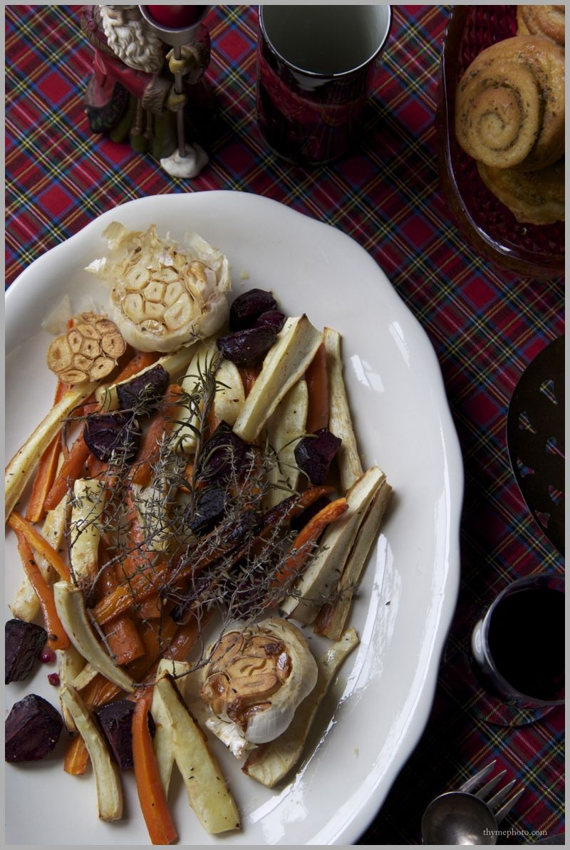 Roasted Root Vegetables with Garlic and Herbs. Christmas 2013