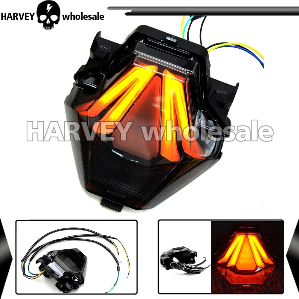 58.99$  Buy here - http://alijad.worldwells.pw/go.php?t=32559358763 - Motorcycle LED Light Strip Tail Brake Stop  For Yamaha YZF R3 R25 2013 2014 2015 2016 Turn Signal  License Plate Light 58.99$