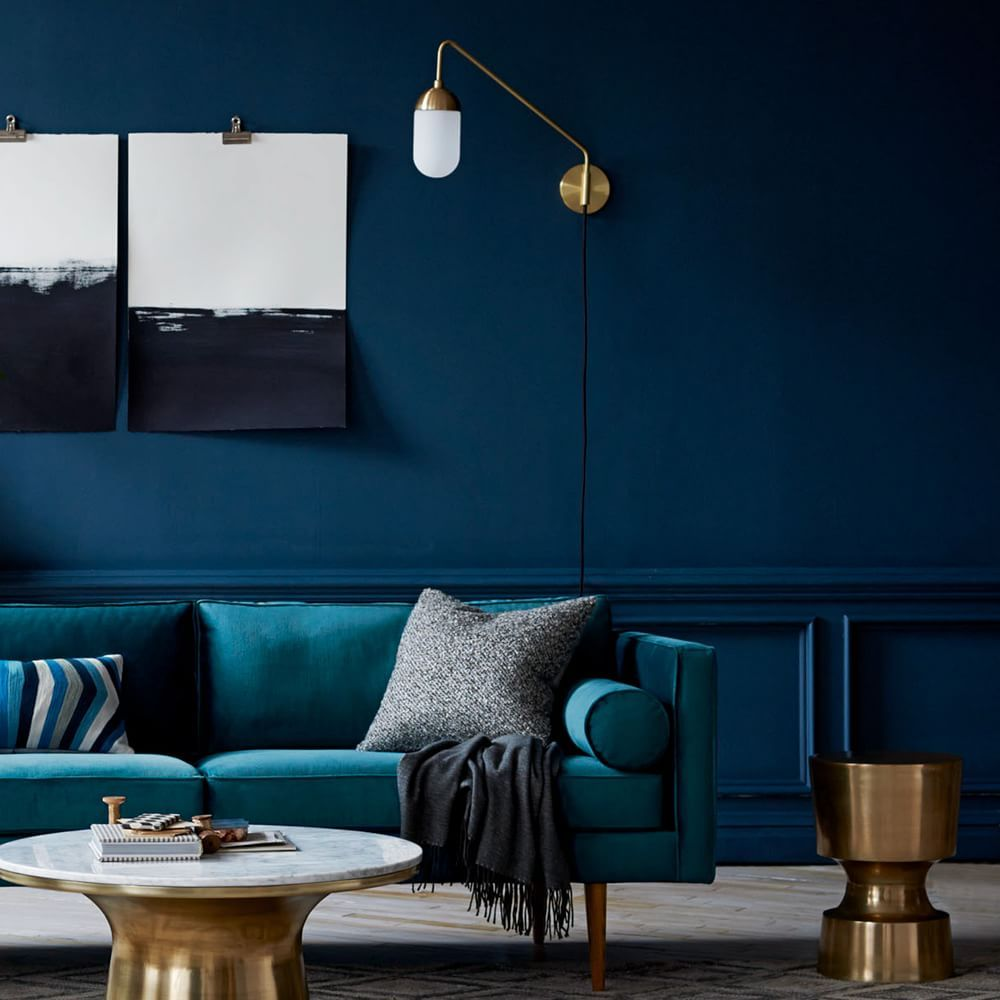 amusing living room west elm decorate shiny | Pelle Long Gooseneck Sconce in 2019 | Turquoise room ...