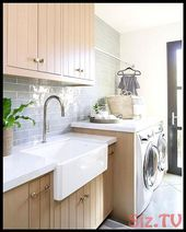 A cute  038  tidy laundry room is a happy laundry room Love how this one turned ...,  #cute #... #graylaundryrooms