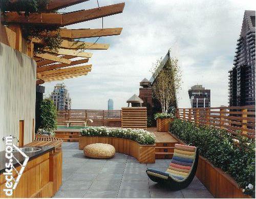 Roof Top Deck Construction Decks Com General Roofing